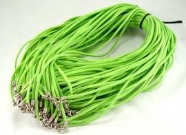 Suede ketting Groen