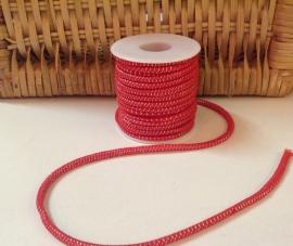 Elastisch koord Rood  4 mm  / 50 cm voor
