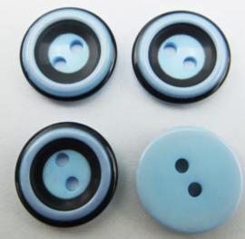 Blauw zwart 15 mm