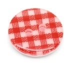 Rood Wit ruitje 15 mm per stuk € 0,12