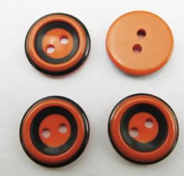 Oranje met zwart. 15 mm