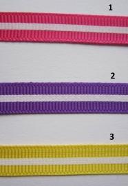 Satijnband met witte streep 1.5 mtr. voor € 0,75
