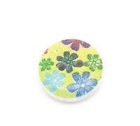 Groen blauw bloemetje. 15 mm