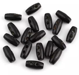 Zwart 16 x 7 mm