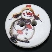 Sneeuwpop met bezem