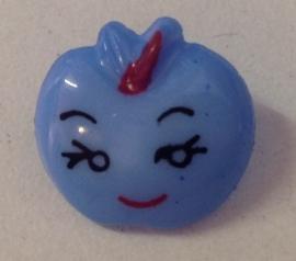 Appelgezichtje Blauw.  17 mm