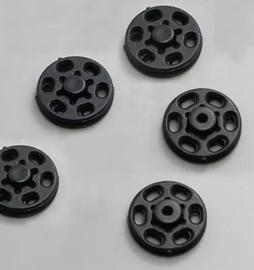 Drukknopen zwart 15 mm