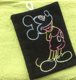 Handdoek met naam en Mickey washandje