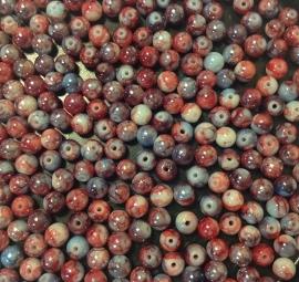 Blauw Rood.  6 mm. 40 voor