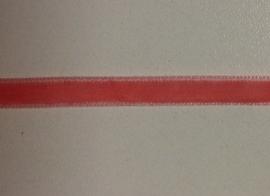 Roze fluweelband € 0.20 per meter