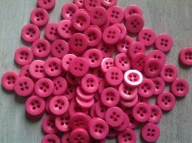 Donker roze knoopje 10 mm