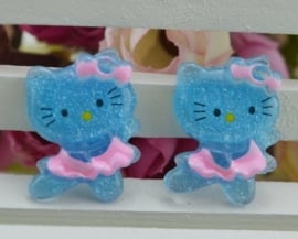Hello Kitty blauw 4 voor € 1,00