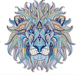 Leeuw blauw