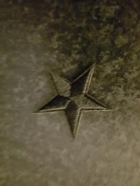 Ster. zwart. 4 x 4 cm