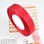 Organza lint  Rood  20 mm