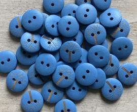 Hout met boom 15 mm blauw