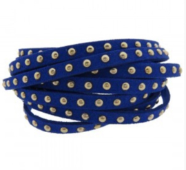 Blauw gouden studs