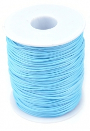 Blauw met glans.  Per meter