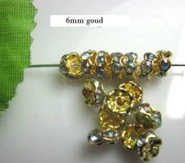 Goud / Groen.    6mm 20 voor