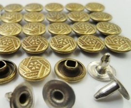 Nagels 9 x 9 mm  Brons  10 voor € 1.00