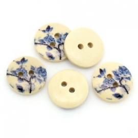 Blauwe bloem.  15 mm