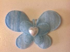 Vlindertje blauw 2 voor € 0,30