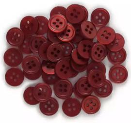 Diep rood. 12.5 mm