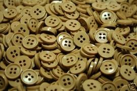 Mocca bruine ronde knoop 11 mm