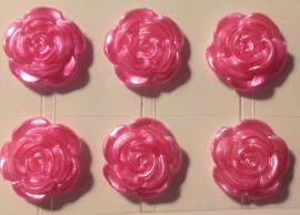 Roze bloemetjes. 6 stuks