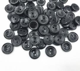 Zwart 15 mm