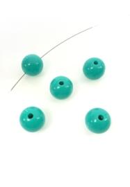 Blauwgroen. 12 mm.  25 voor