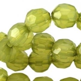 Olijfgroen opaal  5 stuks