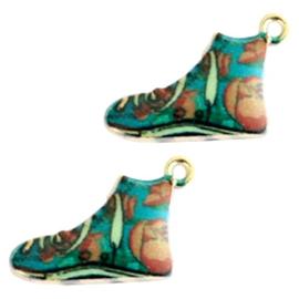 Sneakers groen bruin