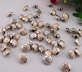 Zilver kleurig knoopje 11 mm