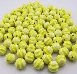 Gele kraal 11 mm 10 voor € 0.50