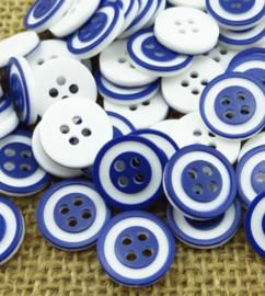 Blauw wit. 12.5 mm