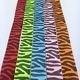 5 x 90 cm  zebraprint verschillende kleuren