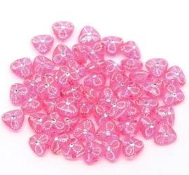 Roze kraal met strass 20 voor