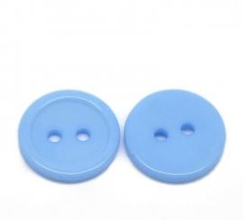 Blauw knoopje 15 mm per stuk € 0,07