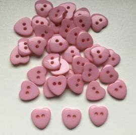 Roze hartje. 12.5 mm