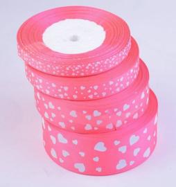 Roze met hartjes