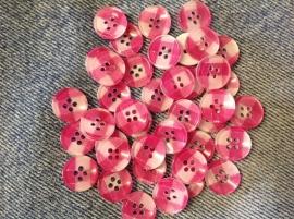 Roze wit ruitje 13 mm per stuk € 0,10