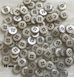 8. Licht beige knoopje. 10 mm