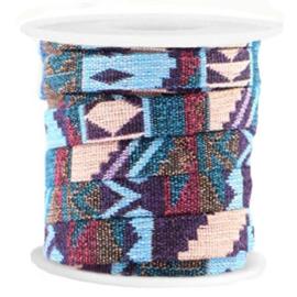 Aztec blauw / paars