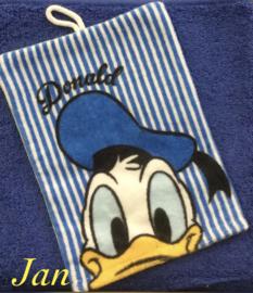 Handdoek met naam en Donald washandje