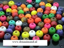 Houten kralen  8x3 mm 20 voor € 1,00