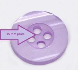 Paars 4 gaten  15 mm