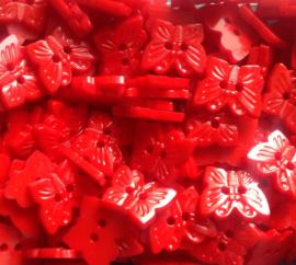 Vlinder Rood.  16 mm
