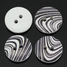 Zebra knoop. 15 mm