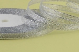 Zilver band 6 mm breed